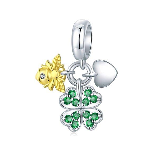 Talisman din argint Golden Lucky Bee