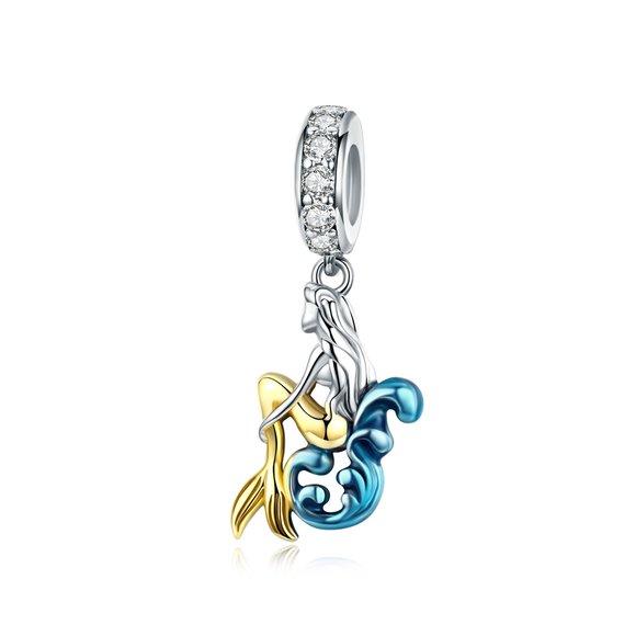 Talisman din argint Golden Mermaid