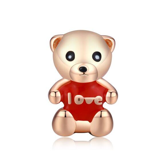 Talisman din argint Golden Teddy