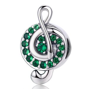 Talisman din argint Green Music Note