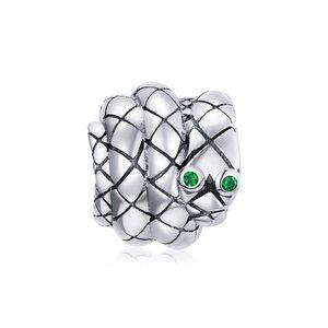 Talisman din argint Green Snake