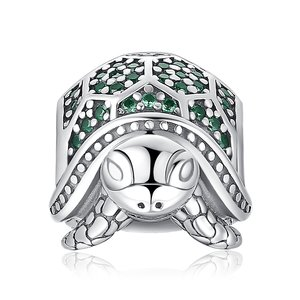 Talisman din argint Green Turtle