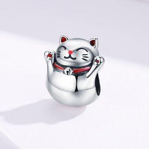Talisman din argint Guardian Cat