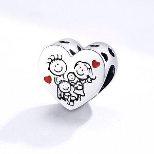 Talisman din argint Happy Loving Family