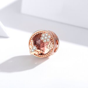 Talisman din argint Happy Time Rose Gold