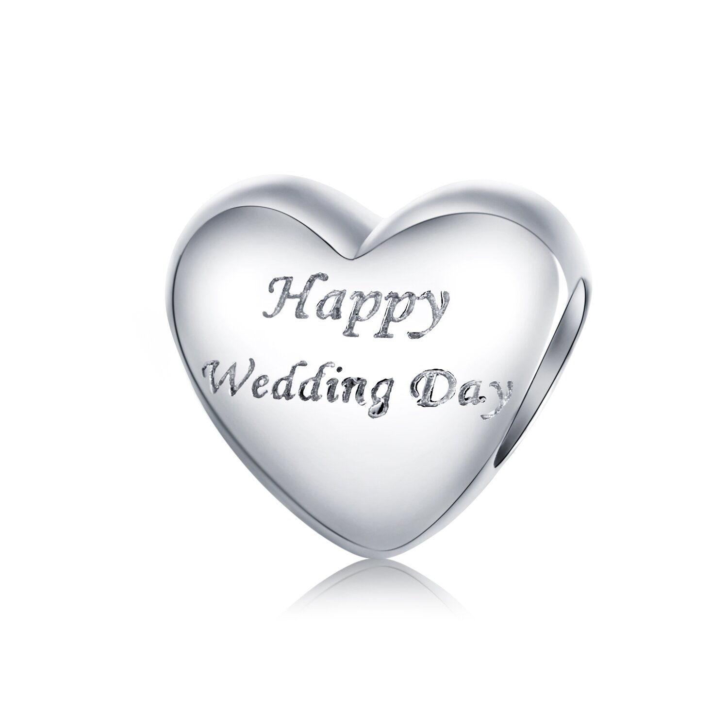 Talisman din argint Happy Wedding Day