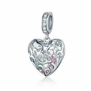 Talisman din argint Heart Gift