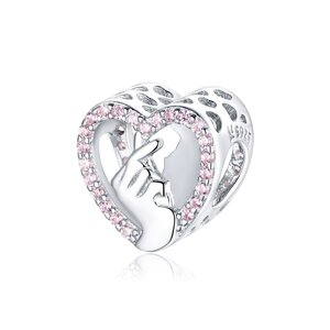Talisman din argint Heart in Hand