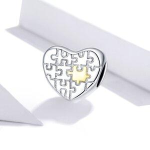 Talisman din argint Heart Loves Puzzles
