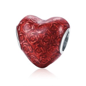 Talisman din argint Heart of Roses