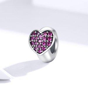Talisman din argint Heart Stopper Bead