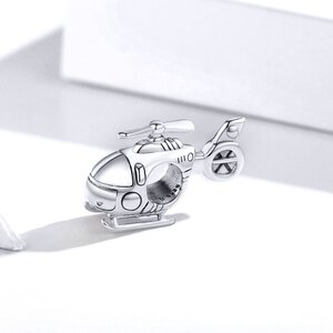 Talisman din argint Helicopter
