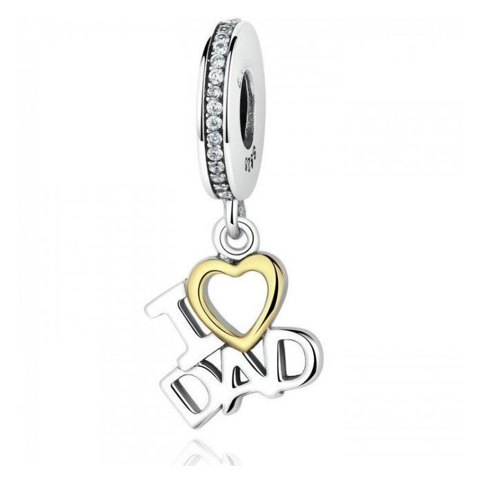 Talisman din argint I Love Dad poza 2021