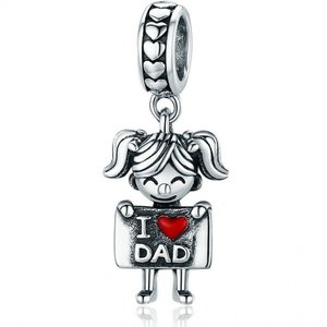 Talisman din argint I Love Dad - Girl