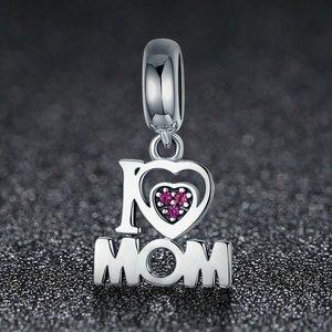 Talisman din argint I Love Mom