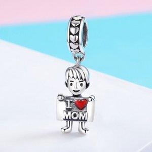 Talisman din argint I Love Mom - Boy