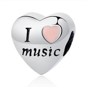 Talisman din argint I Love Music