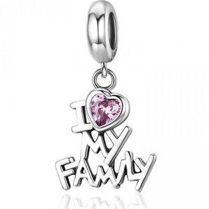 Talisman din argint I Love My Family