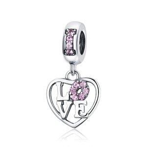 Talisman din argint I Love Pink