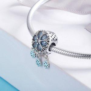 Talisman din argint Ice Snowflakes