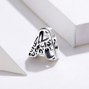 Talisman din argint In Love with Letter A