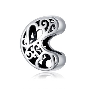 Talisman din argint In Love with Letter C