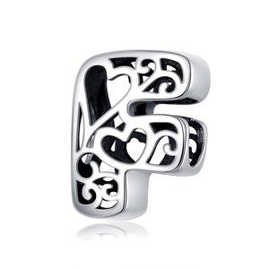 Talisman din argint In Love with Letter F