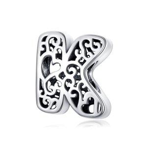 Talisman din argint In Love with Letter K