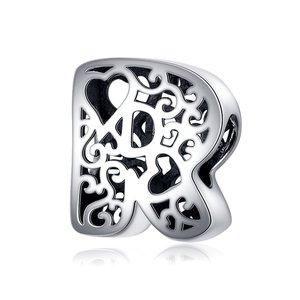 Talisman din argint In Love with Letter R