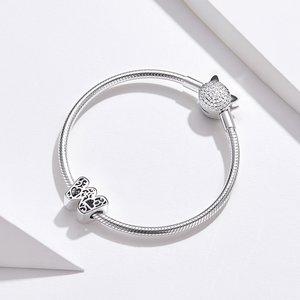 Talisman din argint In Love with Letter W