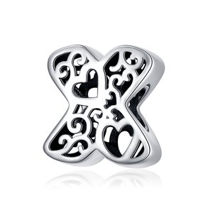 Talisman din argint In Love with Letter X