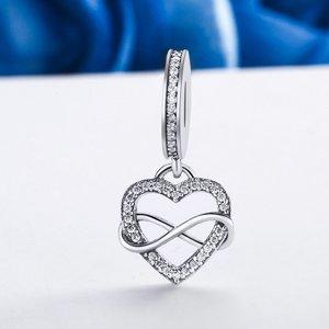 Talisman din argint Infinite Heart