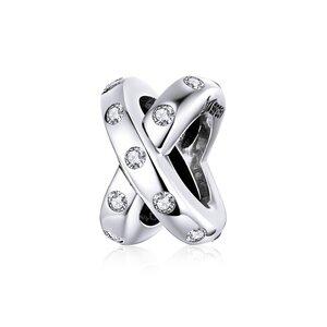 Talisman din argint Intersected Stones