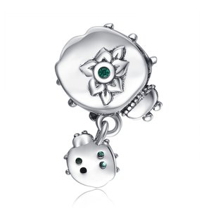 Talisman din argint Ladybug and Baby
