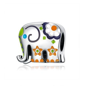 Talisman din argint Little Green Elephant
