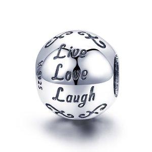 Talisman din argint Live Love Laugh