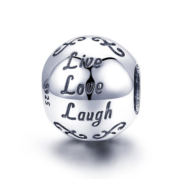 Talisman din argint Live Love Laugh