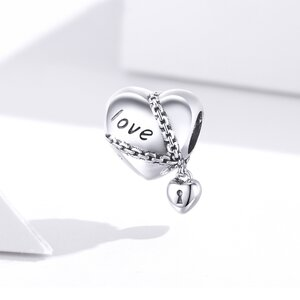 Talisman din argint Locked Heart