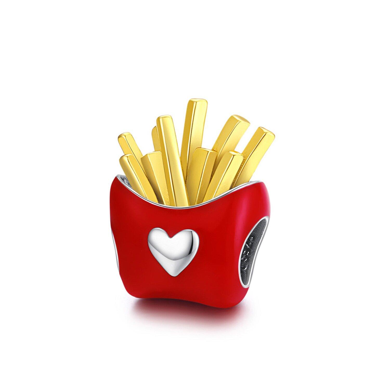 Talisman din argint Love for Fries poza 2021