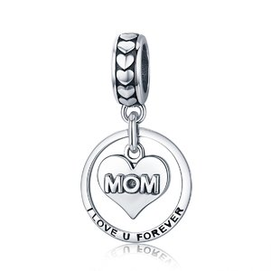 Talisman din argint Love Forever Mom