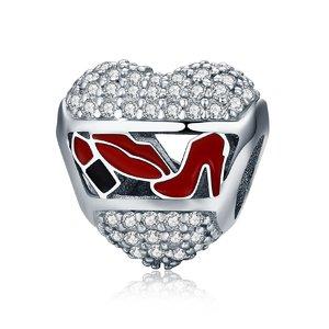 Talisman din argint Love Kisses & Shoes