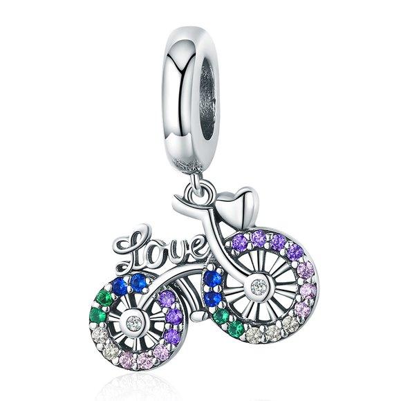 Talisman din argint Love My Bike