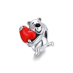 Talisman din argint Loving Bear