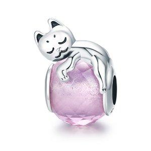 Talisman din argint Loving Cat