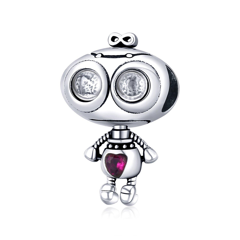 Talisman din argint Loving Robot poza 2021