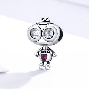 Talisman din argint Loving Robot
