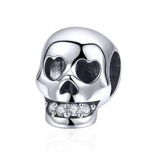 Talisman din argint Loving Skull