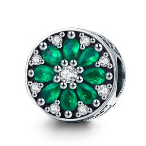 Talisman din argint Luminous Green Star