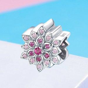 Talisman din argint Luminous Pink Lotus