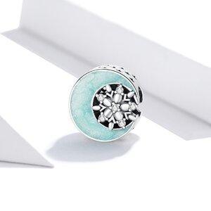 Talisman din argint Magic Moon & Snowflake